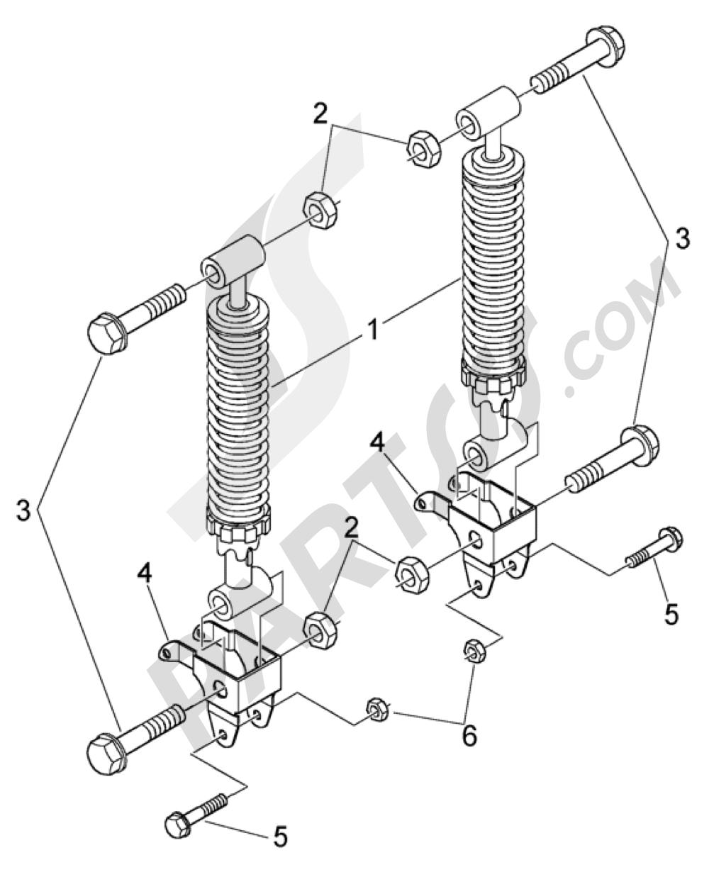 Piaggio BV 500 (U.S.A.) 1998-2005 Amortiguadores