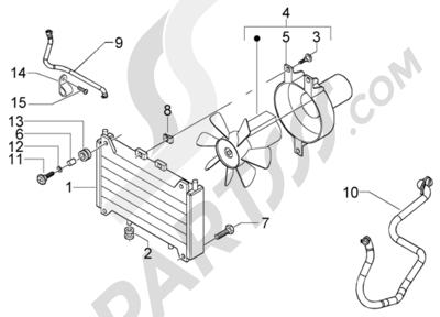 Piaggio BV 500 (U.S.A.) 1998-2005 Electro ventilador