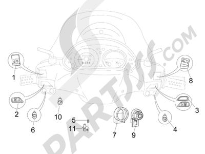 Piaggio BV 500 (USA) 2008 Conmutadores - Conmutadores - Pulsadores - Interruptores