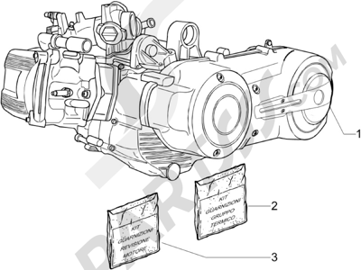 Piaggio BV 500 Tourer (USA) 2008 Motor completo