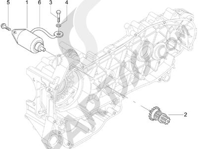 Piaggio Carnaby 125 4T E3 2007-2010 Arranque - Arranque electrico