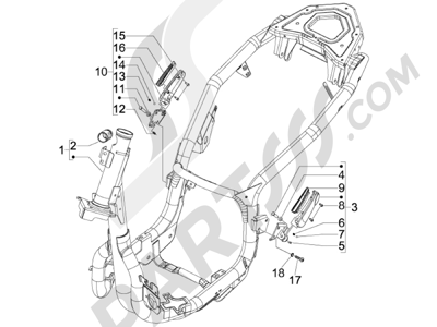 Piaggio Carnaby 125 4T E3 2007-2010 Chasis carrocería