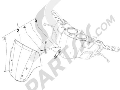 Piaggio Carnaby 125 4T E3 2007-2010 Parabrisas - Cristales