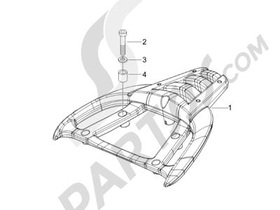 Piaggio Carnaby 125 4T E3 2007-2010 Portaequipajes trasero