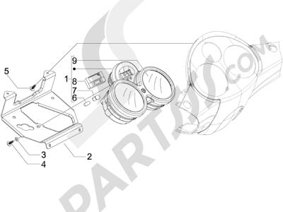 Piaggio Carnaby 125 4T E3 2007-2010 Tablero de instrumentos - Cruscotto