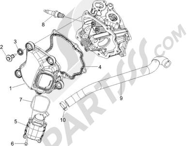 Piaggio Carnaby 125 4T E3 2007-2010 Tapa culata