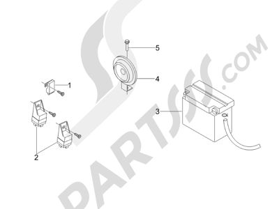 Piaggio Carnaby 125 4T E3 2007-2010 Telerruptores - Bateria - Claxon