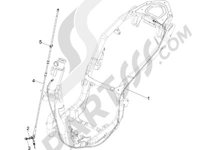 Piaggio Carnaby 125 4T E3 2007-2010 Transmisiónes