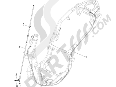 Piaggio Carnaby 200 4T E3 2007-2008 Transmisiónes