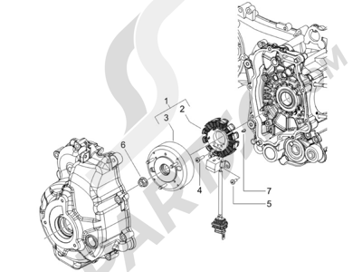 Piaggio Carnaby 200 4T E3 2007-2008 Volante magnetico