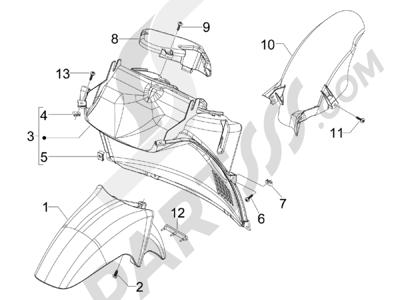 Piaggio Carnaby 250 4T ie E3 2008 Alojamiento rueda - Guardabarros