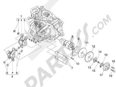 Piaggio Carnaby 250 4T ie E3 2008 Grupo soporte balancines
