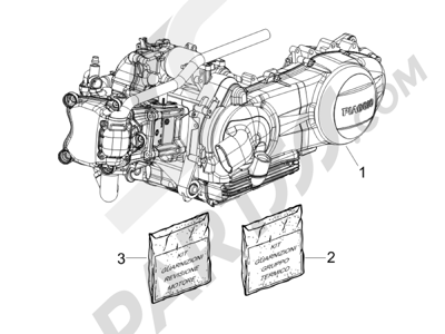 Piaggio Carnaby 250 4T ie E3 2008 Motor completo