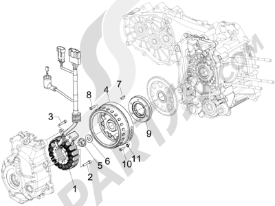 Piaggio Carnaby 250 4T ie E3 2008 Volante magnetico