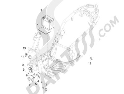 Piaggio Carnaby 300 4T ie Cruiser 2009-2011 Telerruptores - Bateria - Claxon