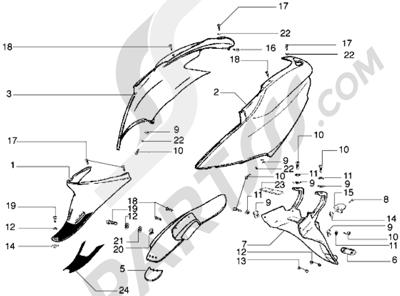 Piaggio Diesis 100 1998-2005 Protecciones laterales