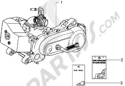 Piaggio Diesis 50 1998-2005 Motor