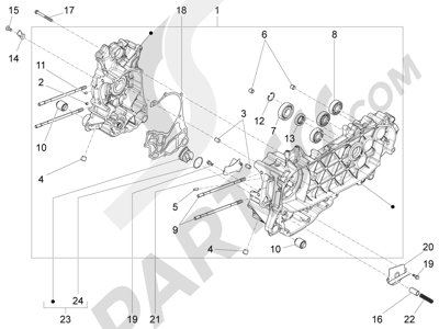 Piaggio Fly 125 4T/3V ie E3 DT 2013 - 2015 Cárter