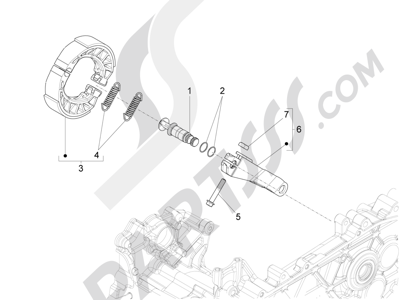 Piaggio Fly 125 4T/3V ie E3 DT 2013 - 2015 Freno trasero - Zapatas