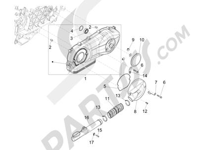 Piaggio Fly 125 4T/3V ie E3 DT 2013 - 2015 Tapa cárter - Refrigeracion cárter