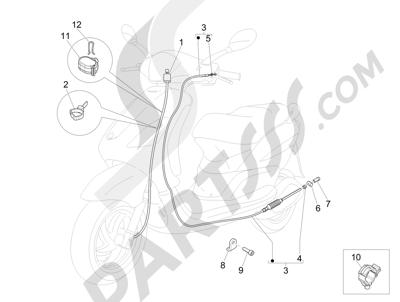 Piaggio Fly 125 4T/3V ie E3 DT 2013 - 2015 Transmisiónes