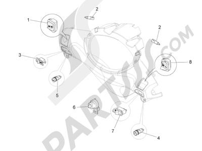 Piaggio Fly 125 4T/3V ie E3 LEM 2012-2013 Conmutadores - Conmutadores - Pulsadores - Interruptores