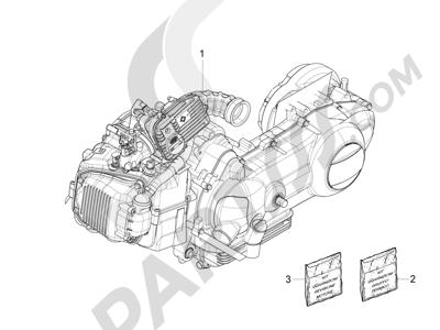 Piaggio Fly 125 4T E3 (Vietnam) 2012 Motor completo