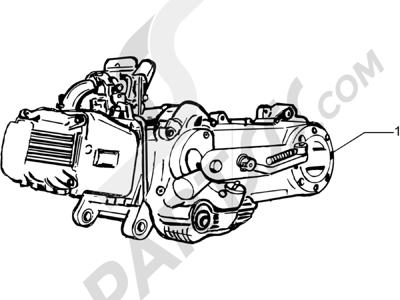 Piaggio Fly 150 4T (USA) 2007-2012 Motor completo