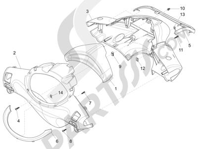 Piaggio Fly 150 4T 3V ie (AUSTRALIA) 2015 Coberturas manillar