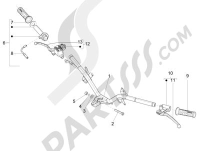 Piaggio Fly 150 4T 3V ie (AUSTRALIA) 2015 Manillar - Bomba freno