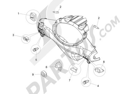 Piaggio Fly 150 4T 3V ie (USA) 2013-2015 Conmutadores - Conmutadores - Pulsadores - Interruptores