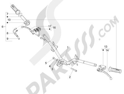 Piaggio Fly 150 4T 3V ie (USA) 2013-2015 Manillar - Bomba freno