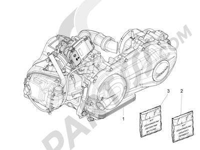 Piaggio Fly 150 4T 3V ie (USA) 2013-2015 Motor completo