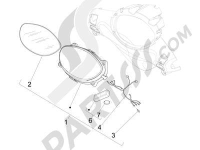Piaggio Fly 150 4T E2-E3 (Vietnam) 2012-2013 Tablero de instrumentos - Cruscotto