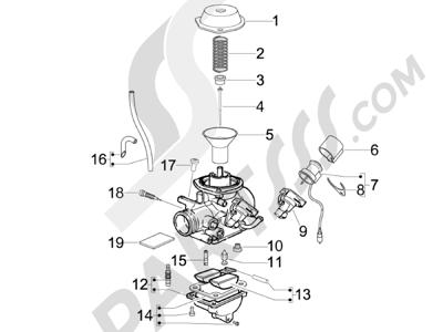 Piaggio Fly 150 4T E3 2008 - 2011 Componentes de carburador