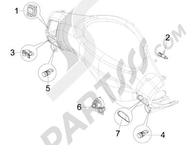 Piaggio Fly 150 4T E3 2008 - 2011 Conmutadores - Conmutadores - Pulsadores - Interruptores
