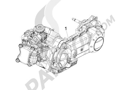 Piaggio Fly 150 4T E3 2008 - 2011 Motor completo