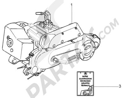 Piaggio Fly 50 2T 1998-2005 Motor