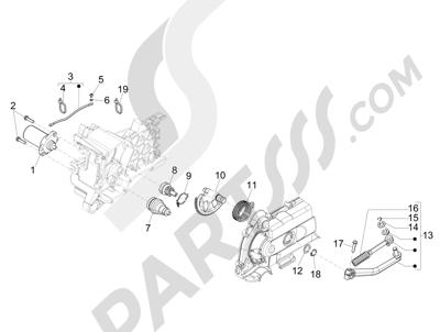 Piaggio FLY 50 4T 2V 2013 -2015 Arranque - Arranque electrico
