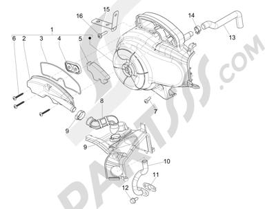 Piaggio FLY 50 4T 2V 2013 -2015 Caja aire secundario