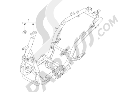 Piaggio FLY 50 4T 2V 2013 -2015 Chasis carrocería