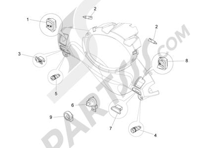 Piaggio FLY 50 4T 2V 2013 -2015 Conmutadores - Conmutadores - Pulsadores - Interruptores