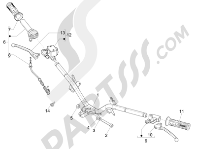 Piaggio FLY 50 4T 2V 2013 -2015 Manillar - Bomba freno