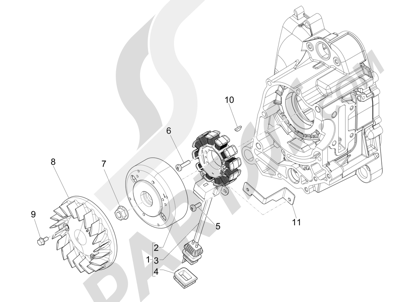 Piaggio FLY 50 4T 2V 2013 -2015 Volante magnetico