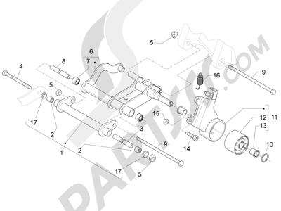 Piaggio Fly 50 4T 2V 25-30Km/h 2012-2015 Brazo oscilante