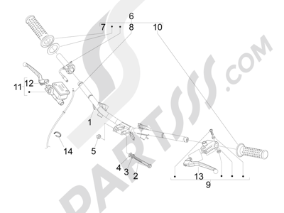 Piaggio Fly 50 4T 2V 25-30Km/h 2012-2015 Manillar - Bomba freno