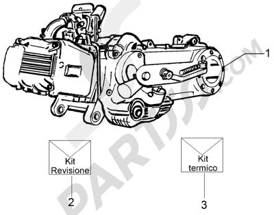 Piaggio Fly 50 4T 2V 25-30Km/h 2012-2015 Motor completo