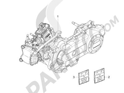 Piaggio Fly 50 4T 4V 2012-2013 Motor completo