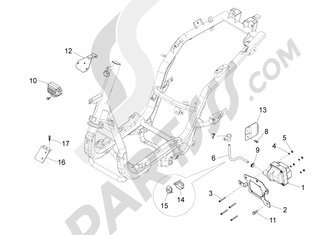 Piaggio Fly 50 4T 4V 2012-2013 Reguladores de tensión - Centralitas electrónicas - Bobina A.T.