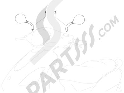 Piaggio Fly 50 4T 4V 2012-2013 Retrovisor es